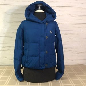 Abercrombie & Fitch Down Coat Size XS Blue
